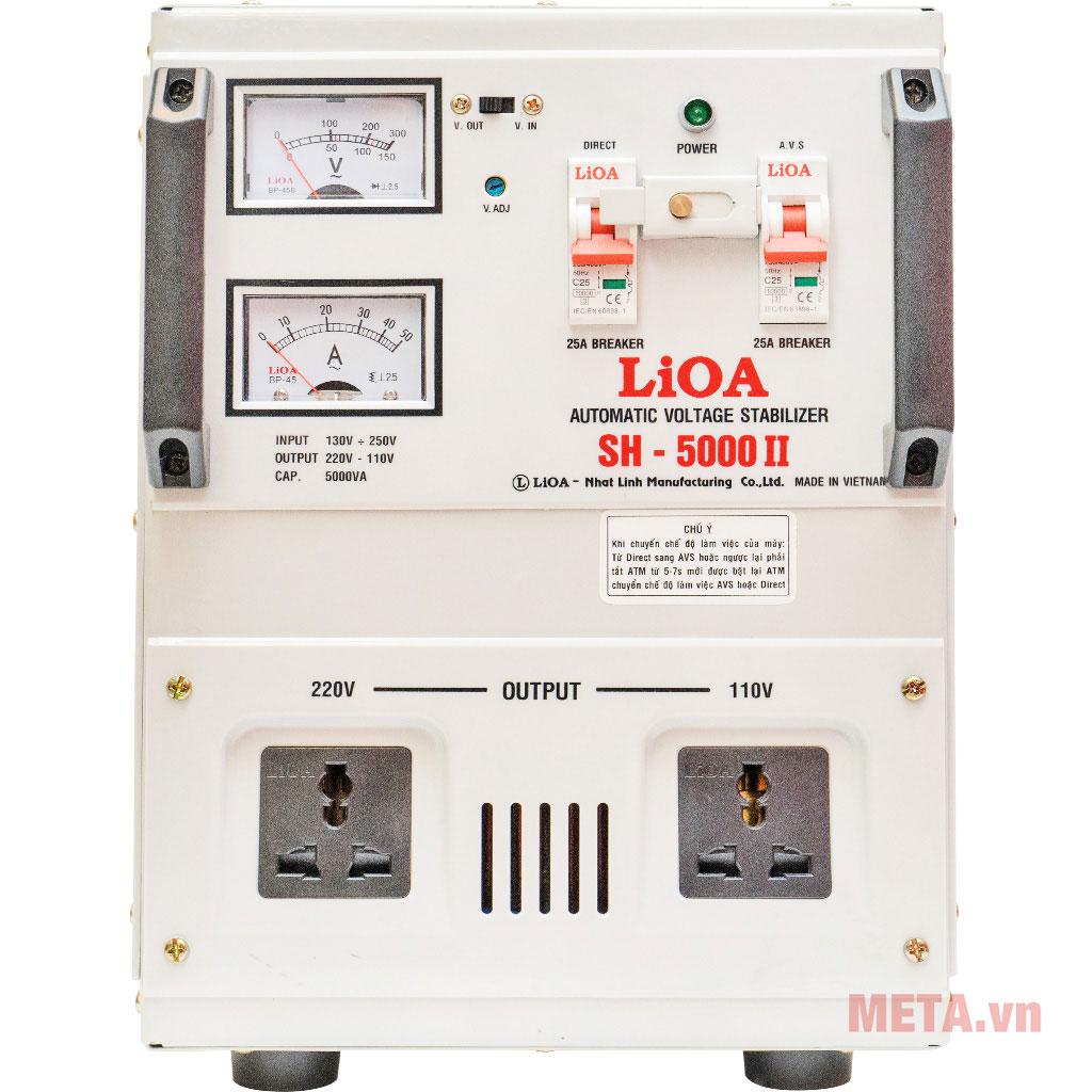 Ổn áp 1 pha Lioa 5KVA SH 5000