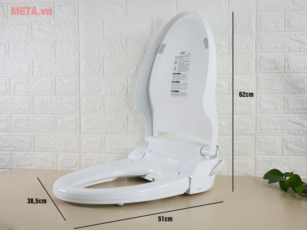 Kích thước thiết bị vệ sinh thông minh