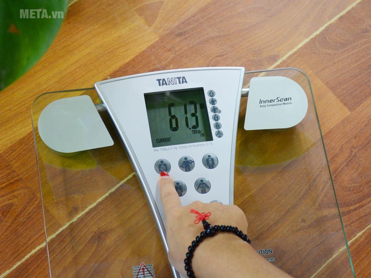 Chức năng xem lại ở cân sức khỏe Tanita BC-543