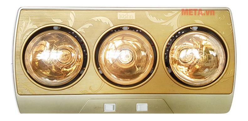 Đèn sưởi nhà tắm 3 bóng Braun Kohn KP03G