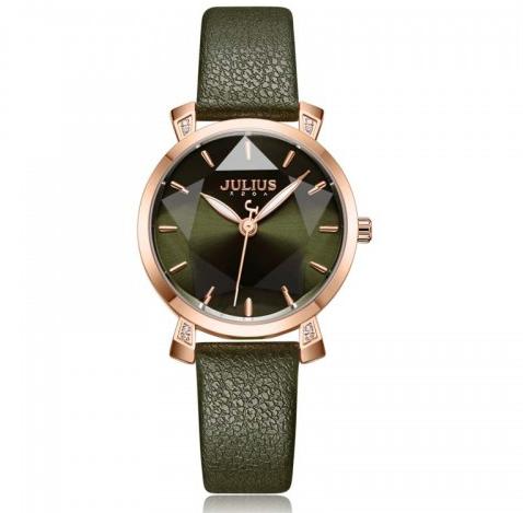 Đồng hồ kim nữ dây da