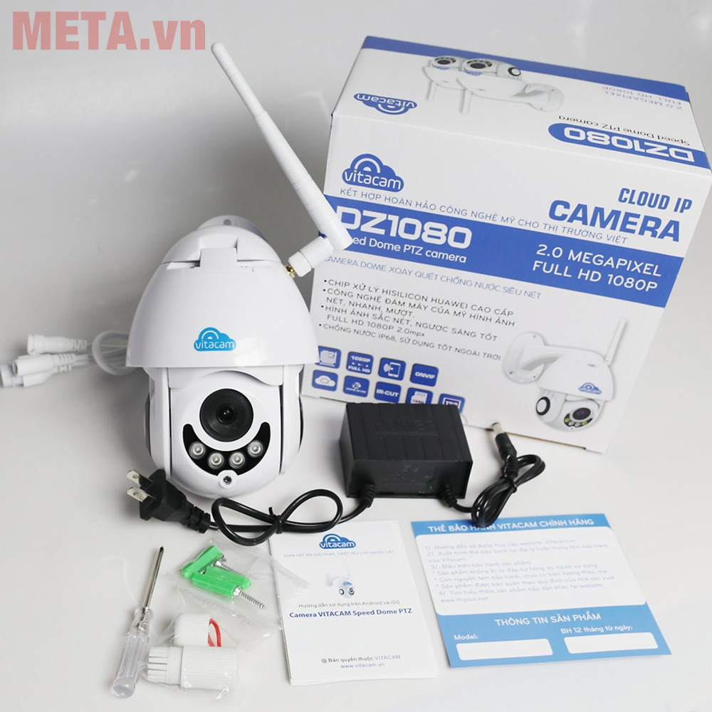 Camera ngoài trời Vitacam Dz1080 xoay 350 độ