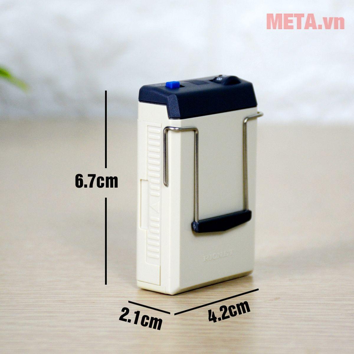 Kích thước máy trợ thính dây đeo Rionet HA-20Dx