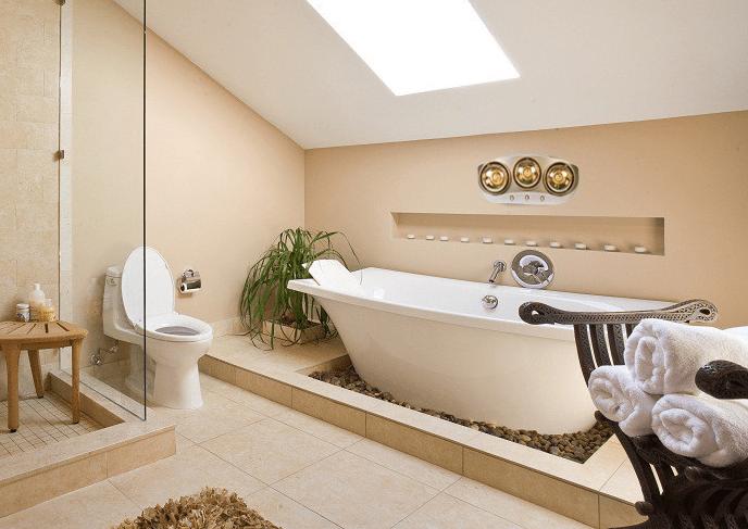 Chỉ nên thay bóng đèn sưởi nhà tắm trong điều kiện phòng tắm khô ráo, không ẩm ướt