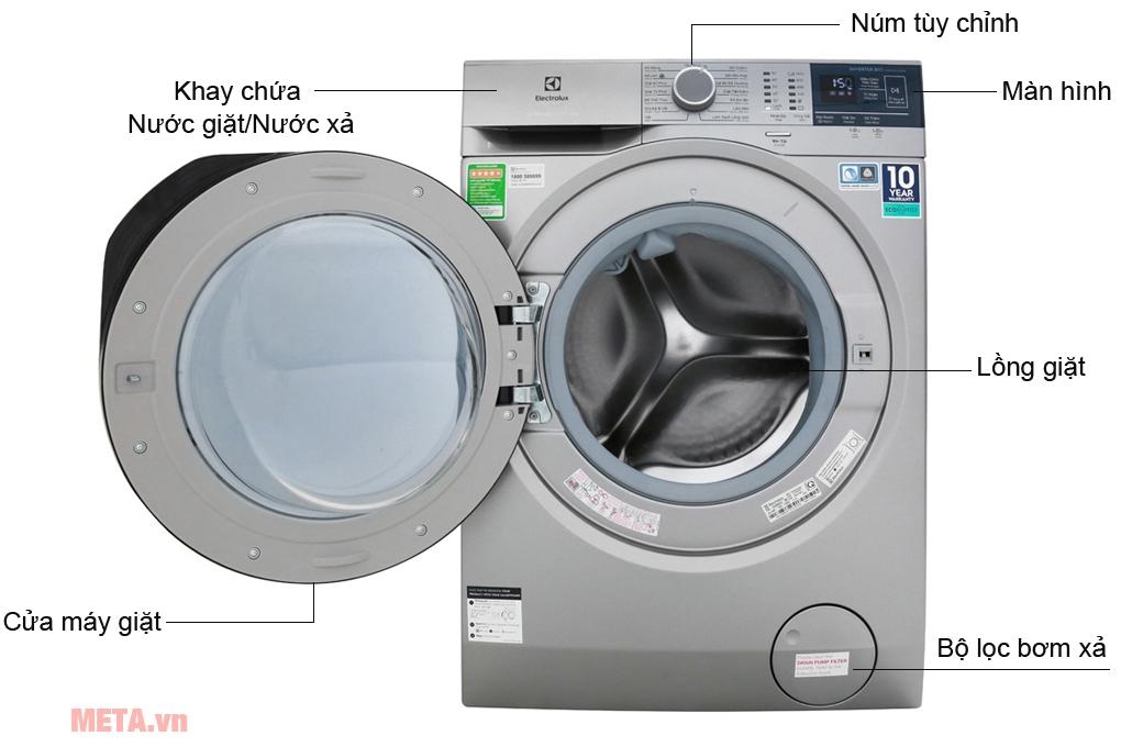 Cấu tạo máy giặt Electrolux Inverter EWF8024ADSA