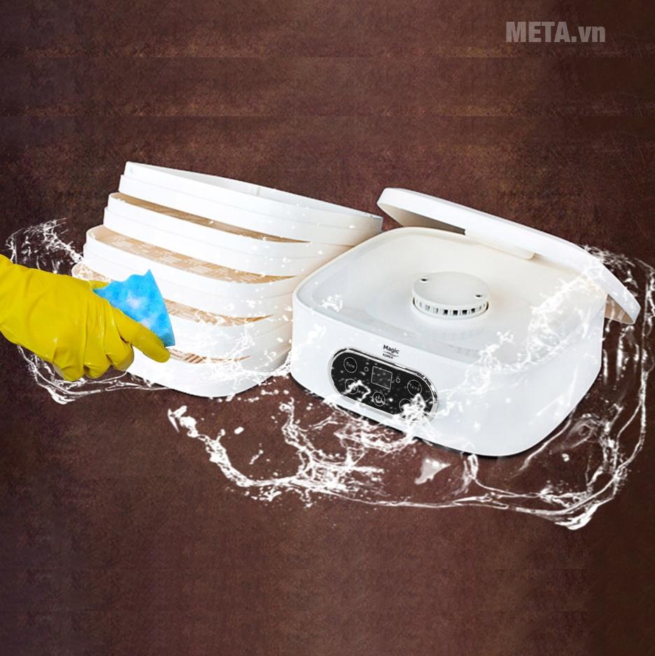 Máy sấy thực phẩm đa năng Magic A-73 dễ dàng vệ sinh