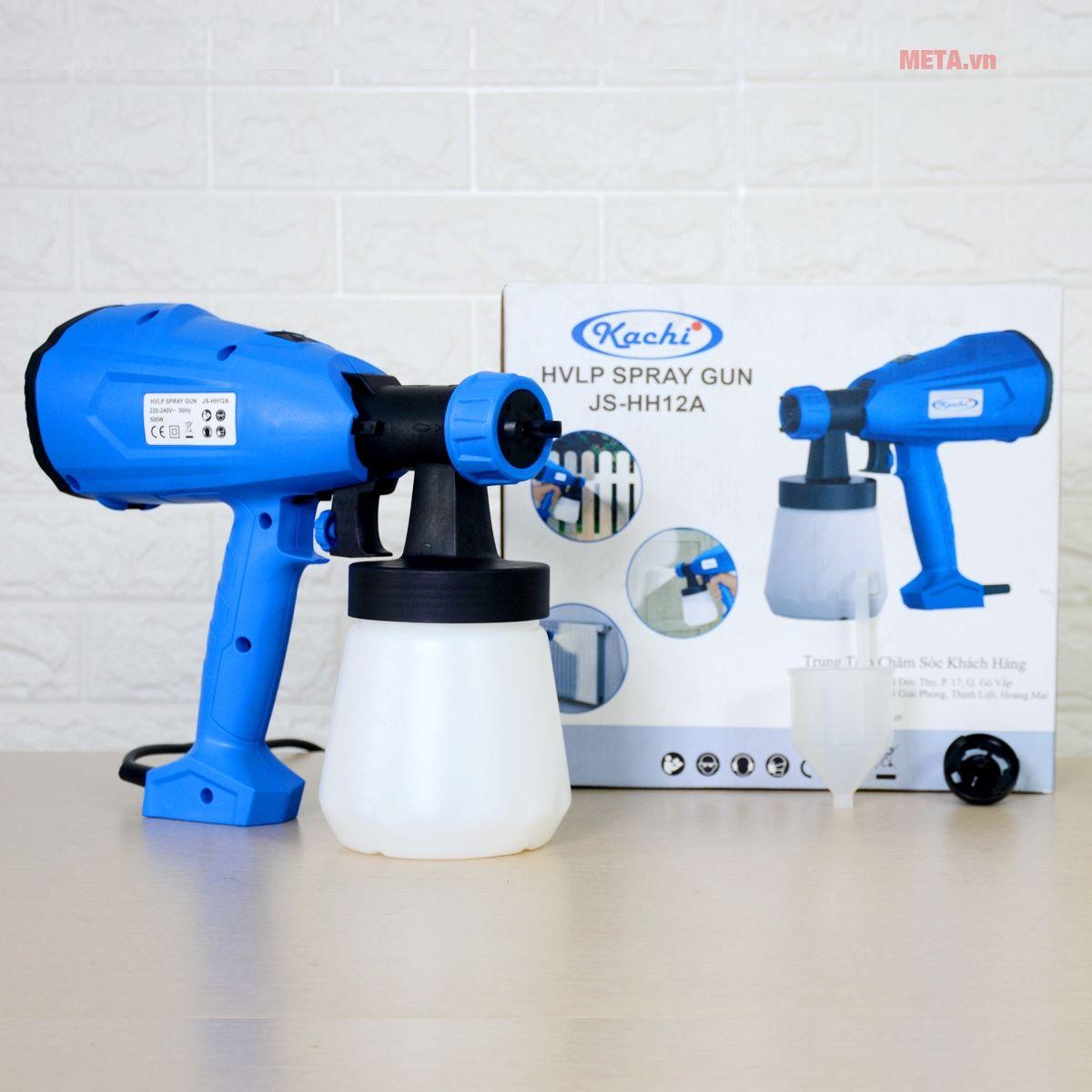Trọn bộ sản phẩm máy phun sơn cầm tay Kachi MK07