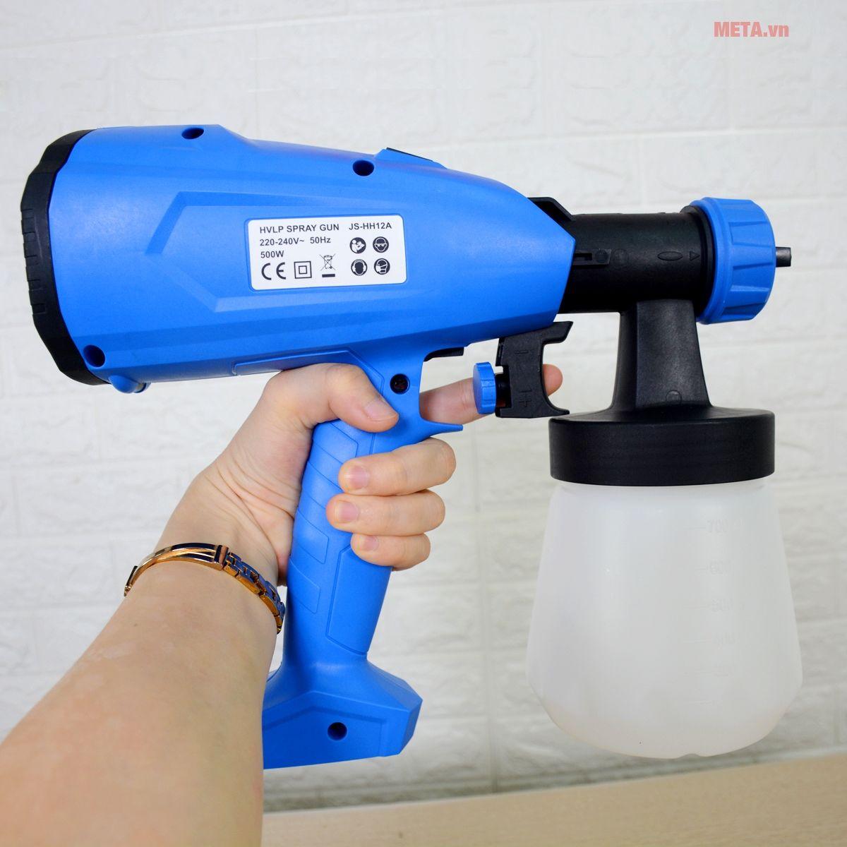 Máy phun sơn cầm tay Kachi MK07 nhỏ gọn, dễ thao tác