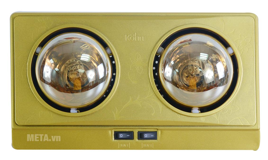 Đèn sưởi nhà tắm 2 bóng Braun Kohn KN02G