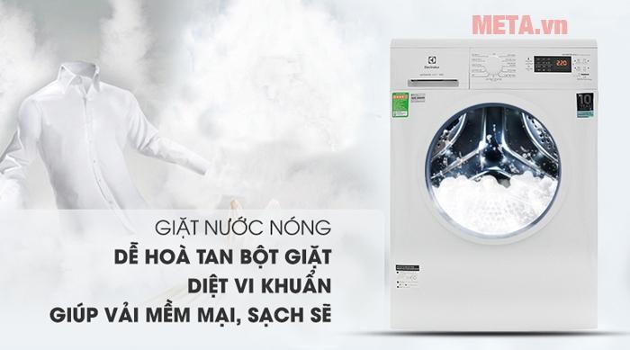 Máy giặt Electrolux EWF8025DGWA Inverter 8kg với kích thước lớn tiện lợi khi bỏ quần áo