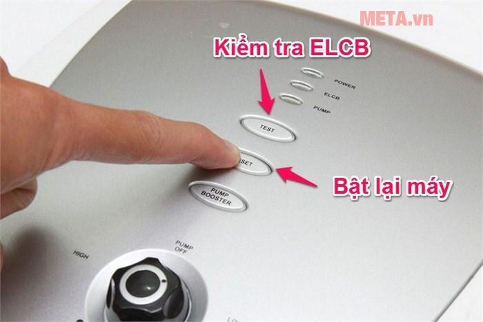Kiểm tra bộ phận chống giật điện ELCB