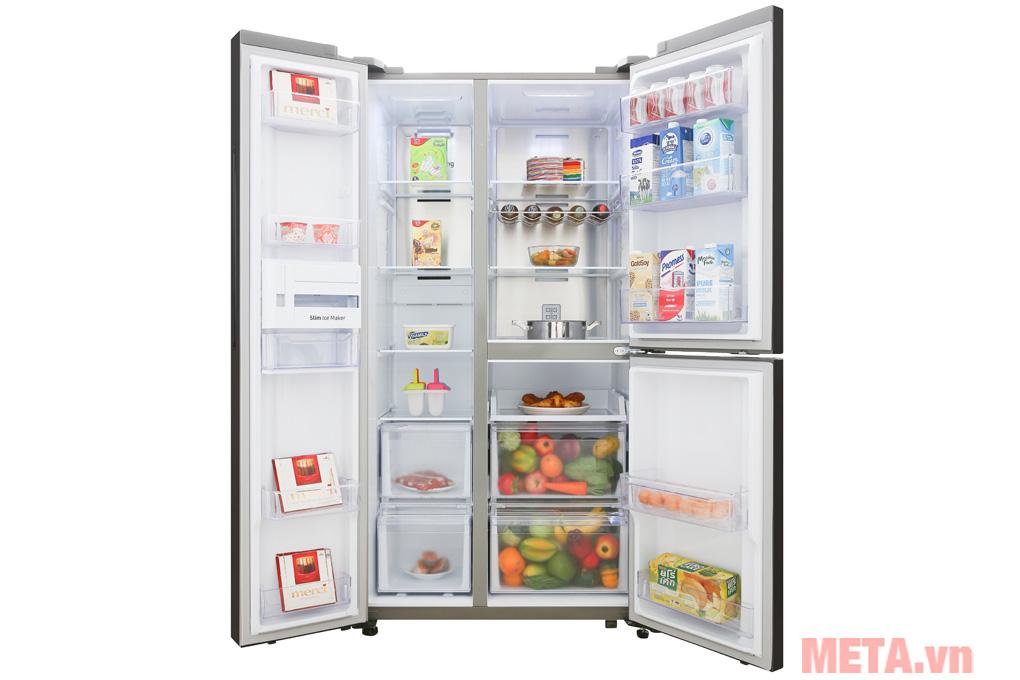 Tủ lạnh side by side Samsung inverter RS63R5571SL/SV (634 lít)