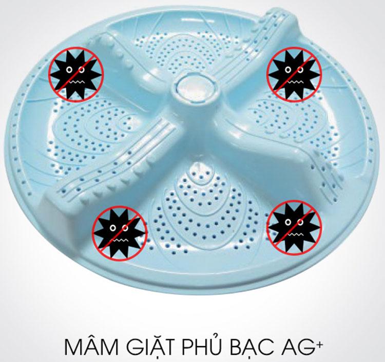 Mâm giặt phủ bạc giúp diệt vi khuẩn hiệu quả