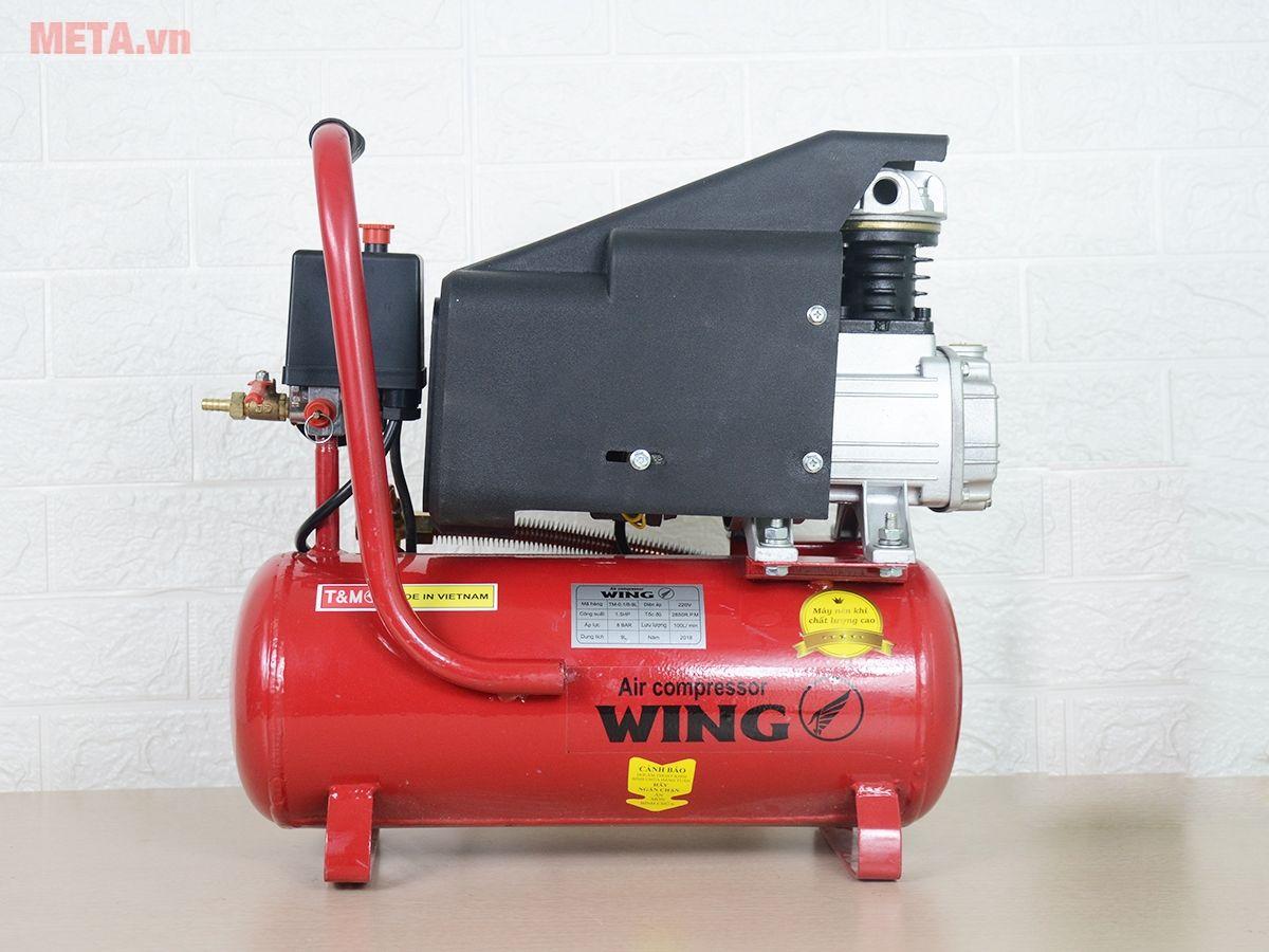 Máy nén khí đầu liền Wing TM 0.1/8 rất được các tiệm sửa chữa xe máy rất ưa chuộng sử dụng