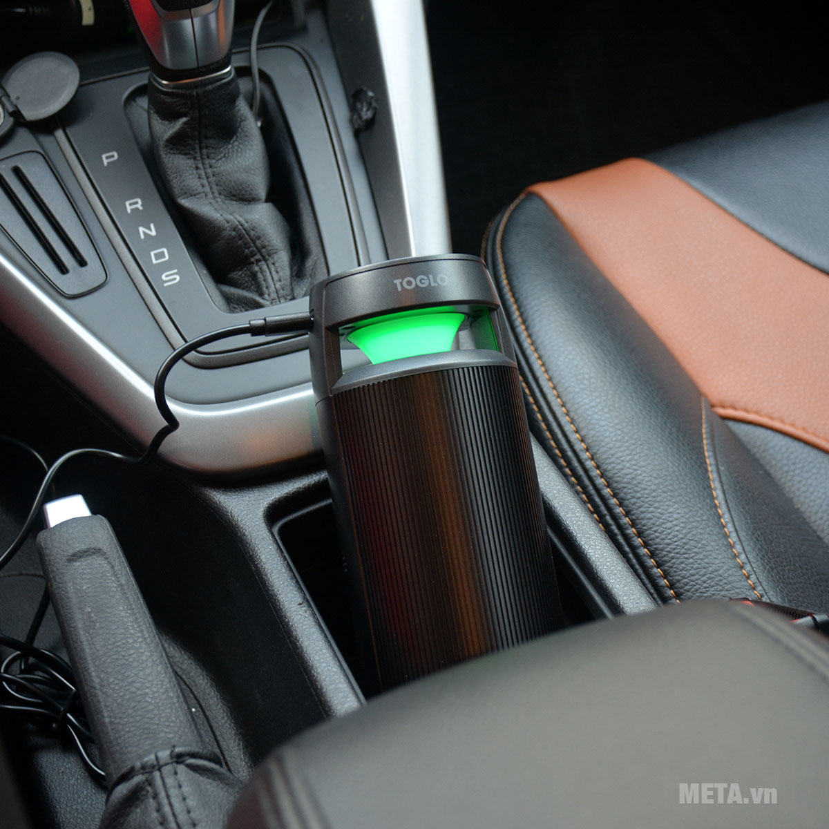 Máy lọc không khí ô tô Toglo TG-C19 có đèn báo chất lượng không khí