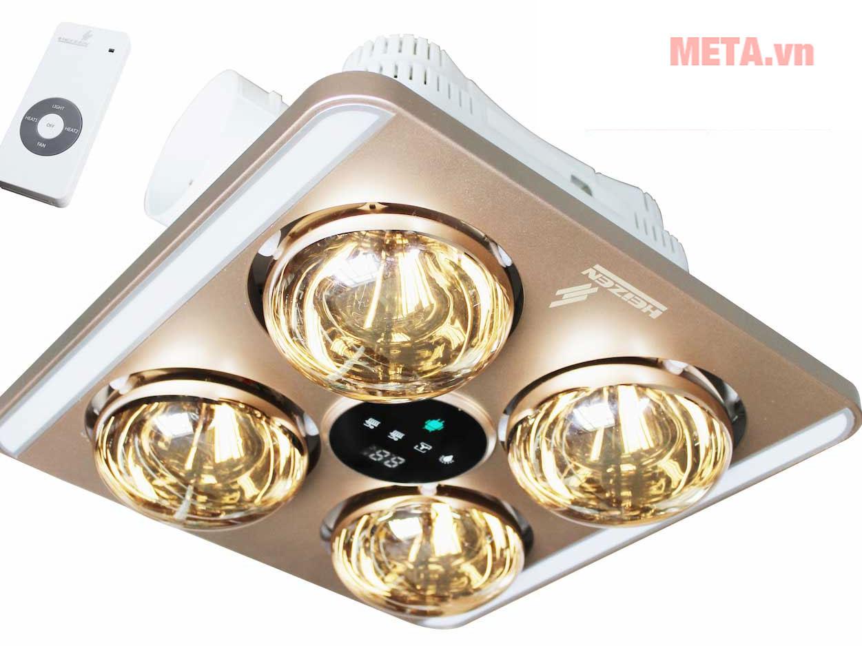 Đèn sưởi nhà tắm 4 bóng âm trần LED HE9