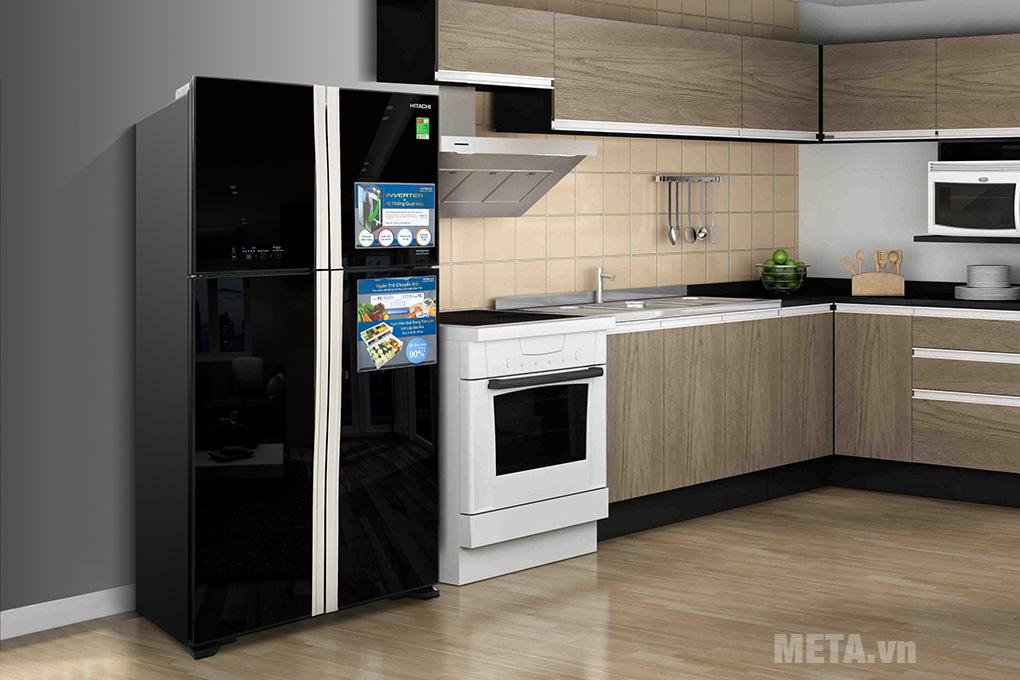 Tủ lạnh Hitachi inverter R-FW650PGV8(GBK)