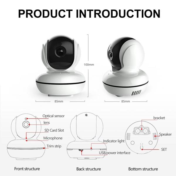 Cấu tạo của một camera an ninh không dây