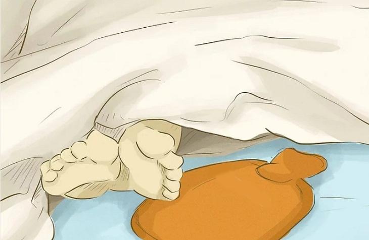 Sử dụng túi chườm nóng