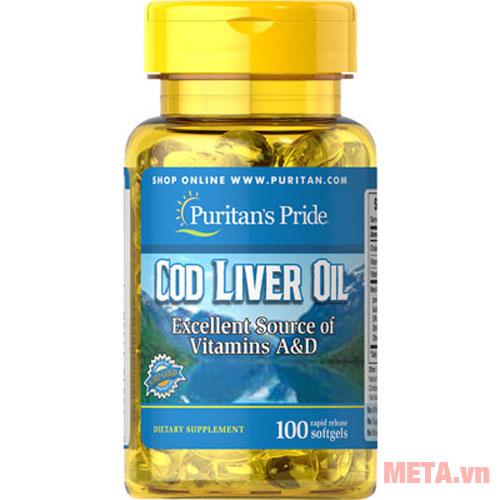 Dầu gan cá tuyết Puritan's Pride Cod Liver Oil 415 mg