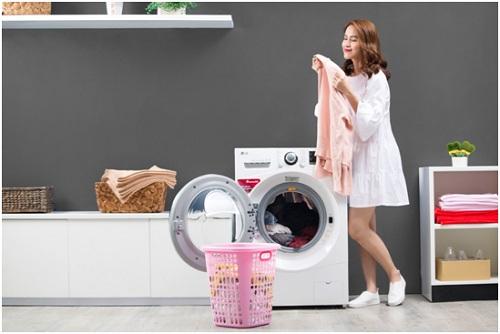 Máy giặt sấy khô LG thiết kế đẹp