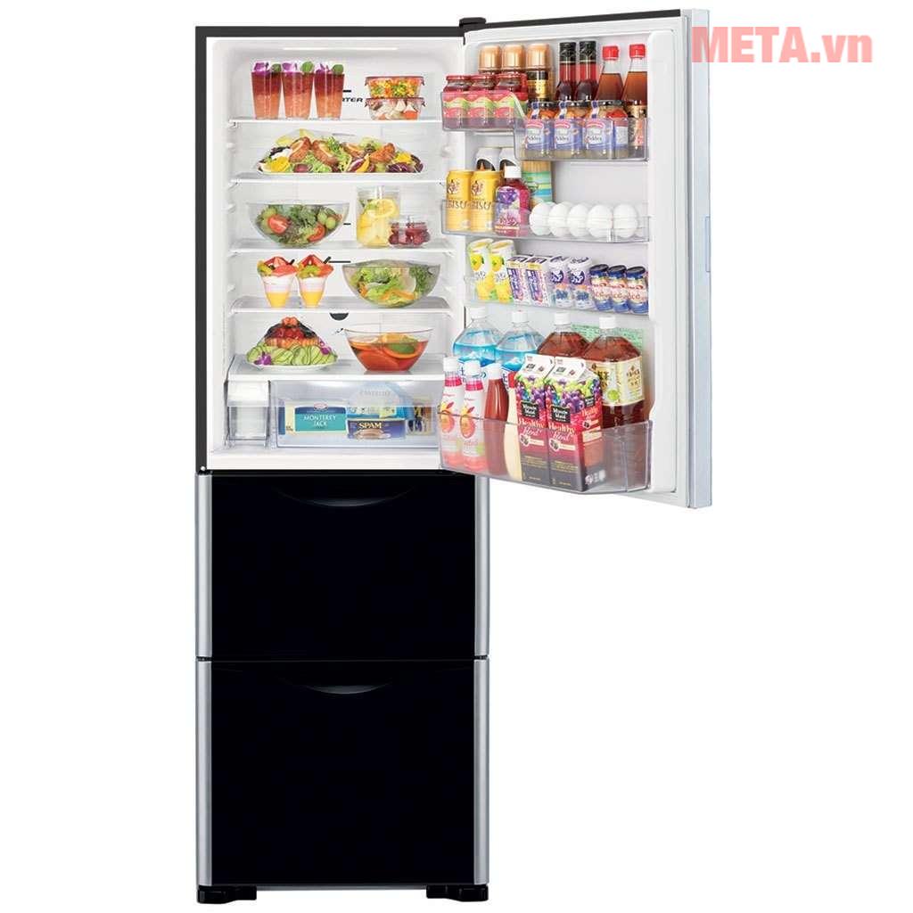 Tủ lạnh 3 cánh Hitachi 375 lít SG38PGV9X (GBK)