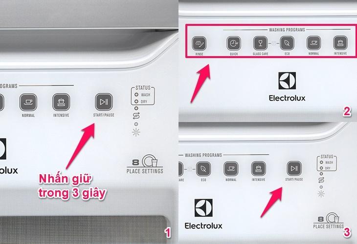 Có thể thay đổi chương trình rửa khi máy đã chạy không?