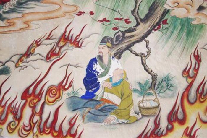 Giới Tử Thôi quyết chí cùng mẹ chịu chết cháy chứ không nhận lĩnh thưởng của vua Tấn Văn Công