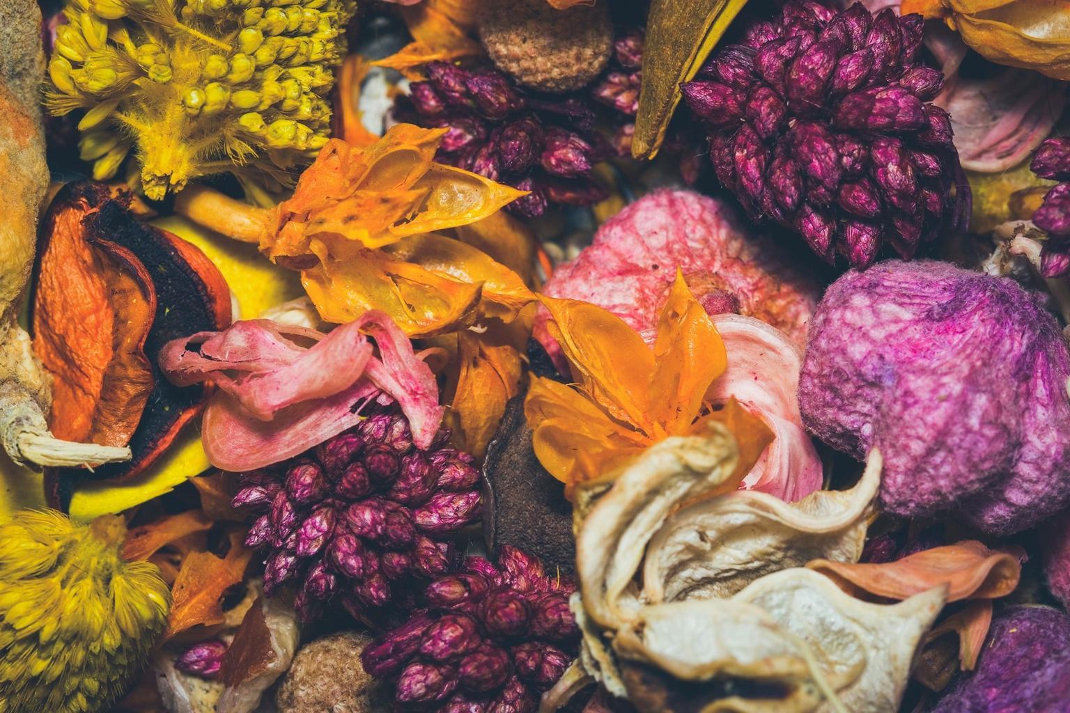 Các loại hoa khô, thảo mộc sẽ giúp phòng ngủ của bạn không còn mùi hôi, ẩm mốc
