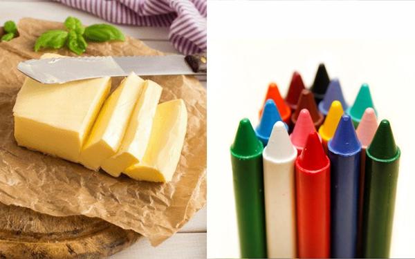 Cách làm sáp thơm phòng bằng bút màu và bơ