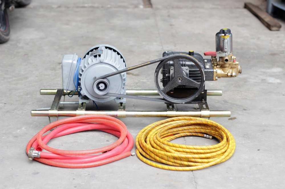 Máy rửa xe dây đai có cấu tạo khá đơn giản