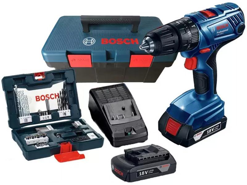 Máy khoan vặn vít dùng pin Bosch GSB 180-LI K2 Promo