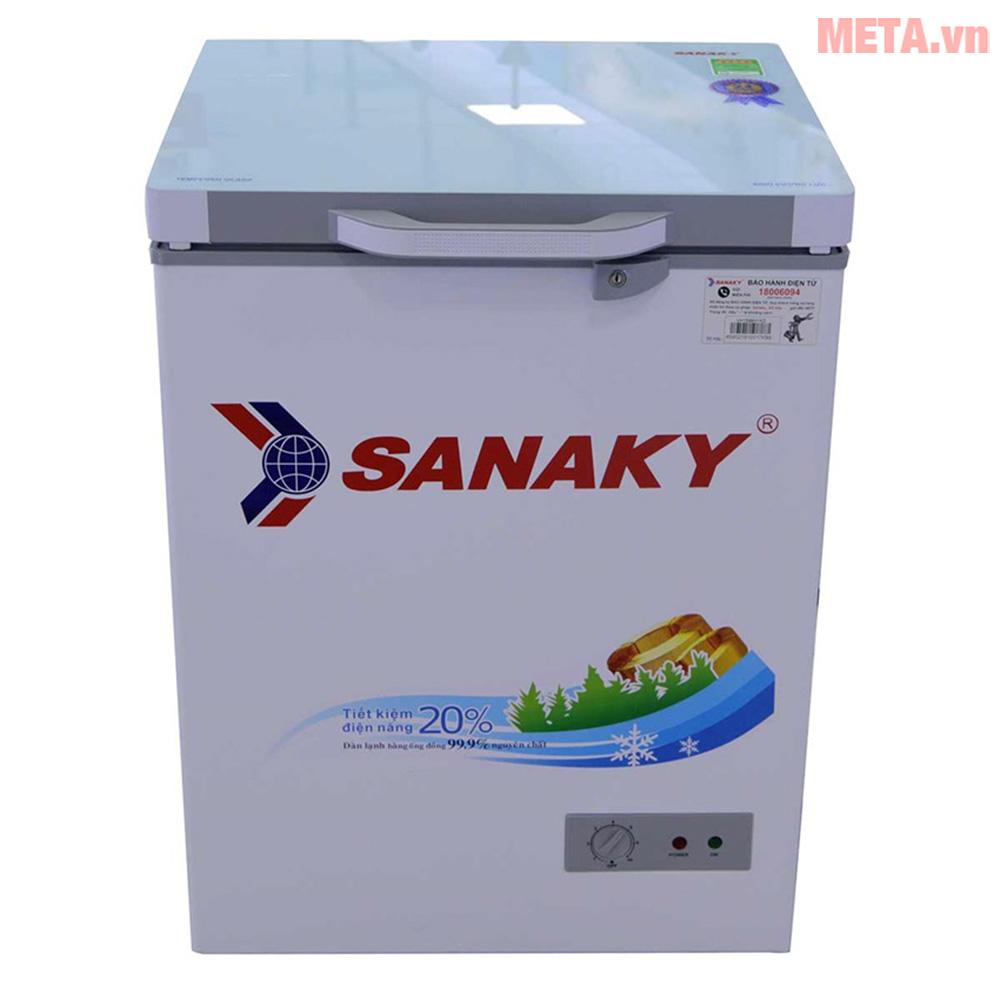 Tủ đông 1 ngăn Sanaky mặt kính cường lực VH-1599HYKD 100 lít