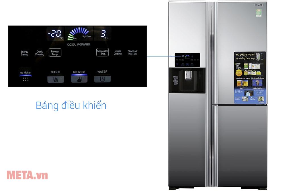Tủ lạnh side by side 3 cánh Hitachi R-FM800GPGV2X (MIR) 584 lít