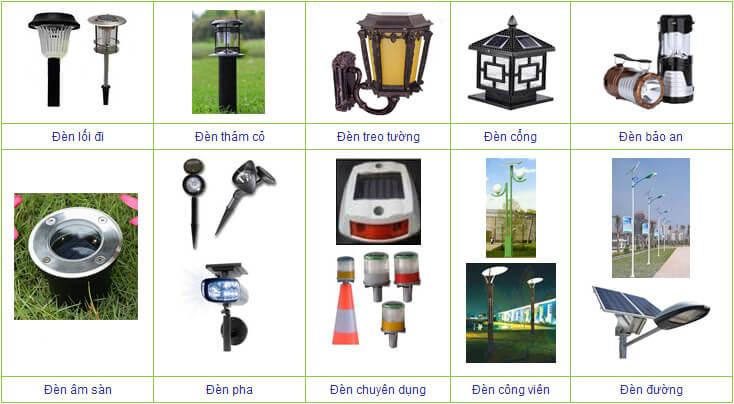 Một số loại đèn năng lượng mặt trời đang được bày bán trên thị trường