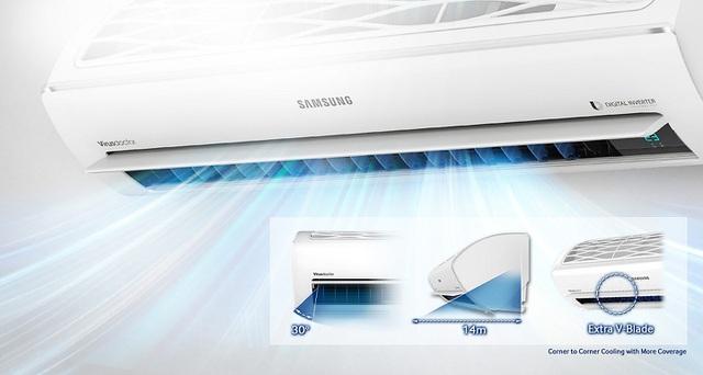 Điều hòa Samsung hợp với những gia đình hiện đại, thích sản phẩm có thiết kế đẹp, nhiều tính năng