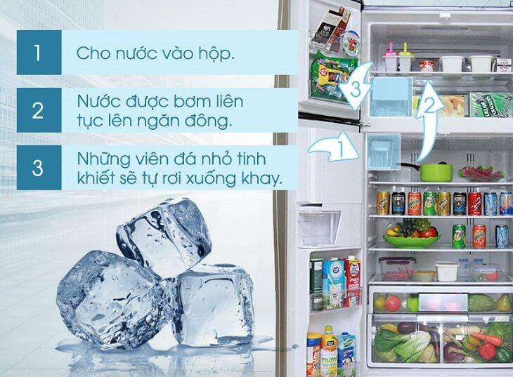 Quá trình làm đá tự động ở tủ lạnh