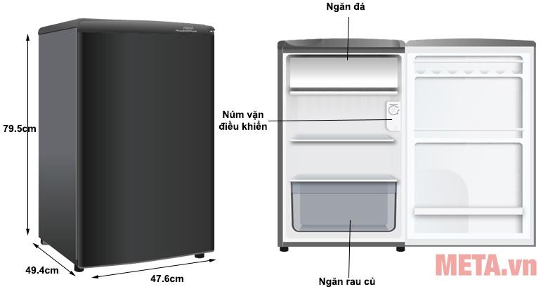Tủ lạnh Aqua AQR-D99FA (BS)
