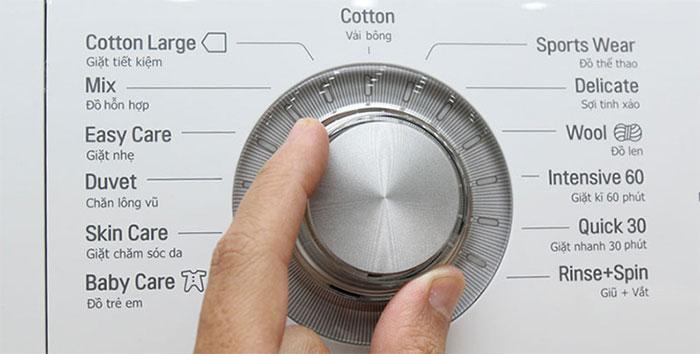 Chọn chu trình giặt phù hợp