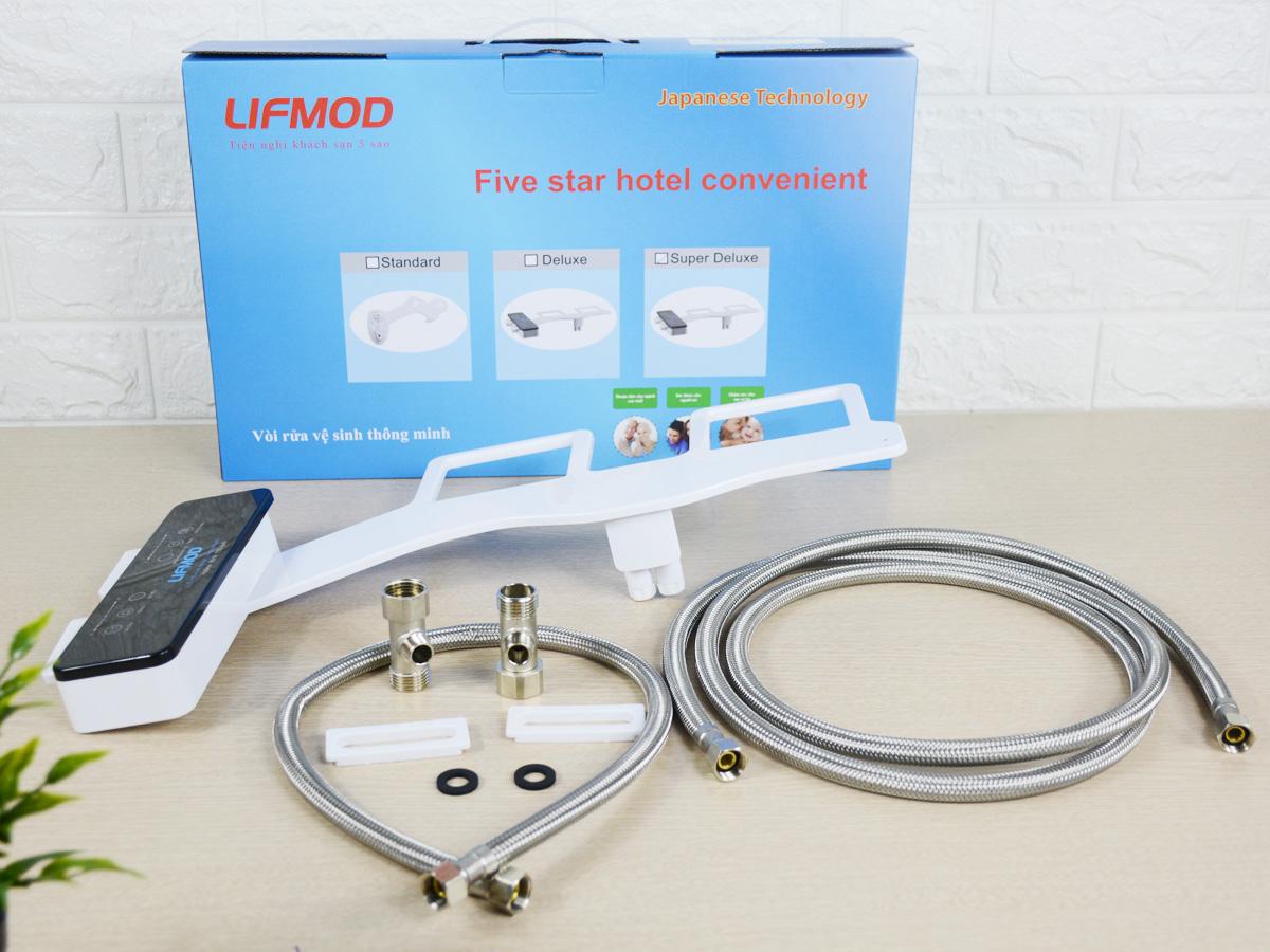 Vòi xịt vệ sinh thông minh Lifmod kiểu Nhật Bản cao cấp nóng lạnh Super Deluxe
