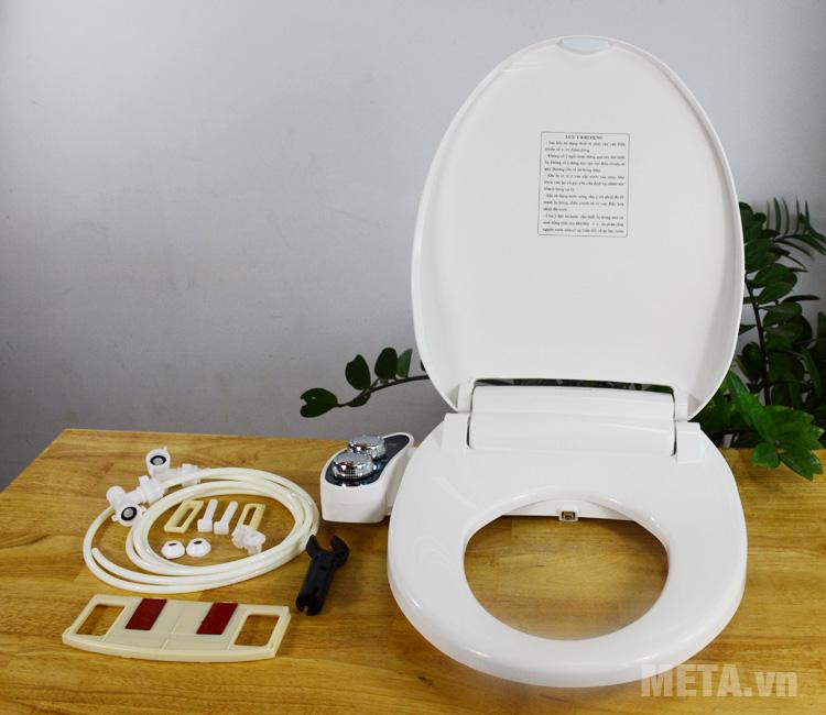 Thiết bị vệ sinh Hyundae Bidet 2 vòi phun HB-9200 có nắp