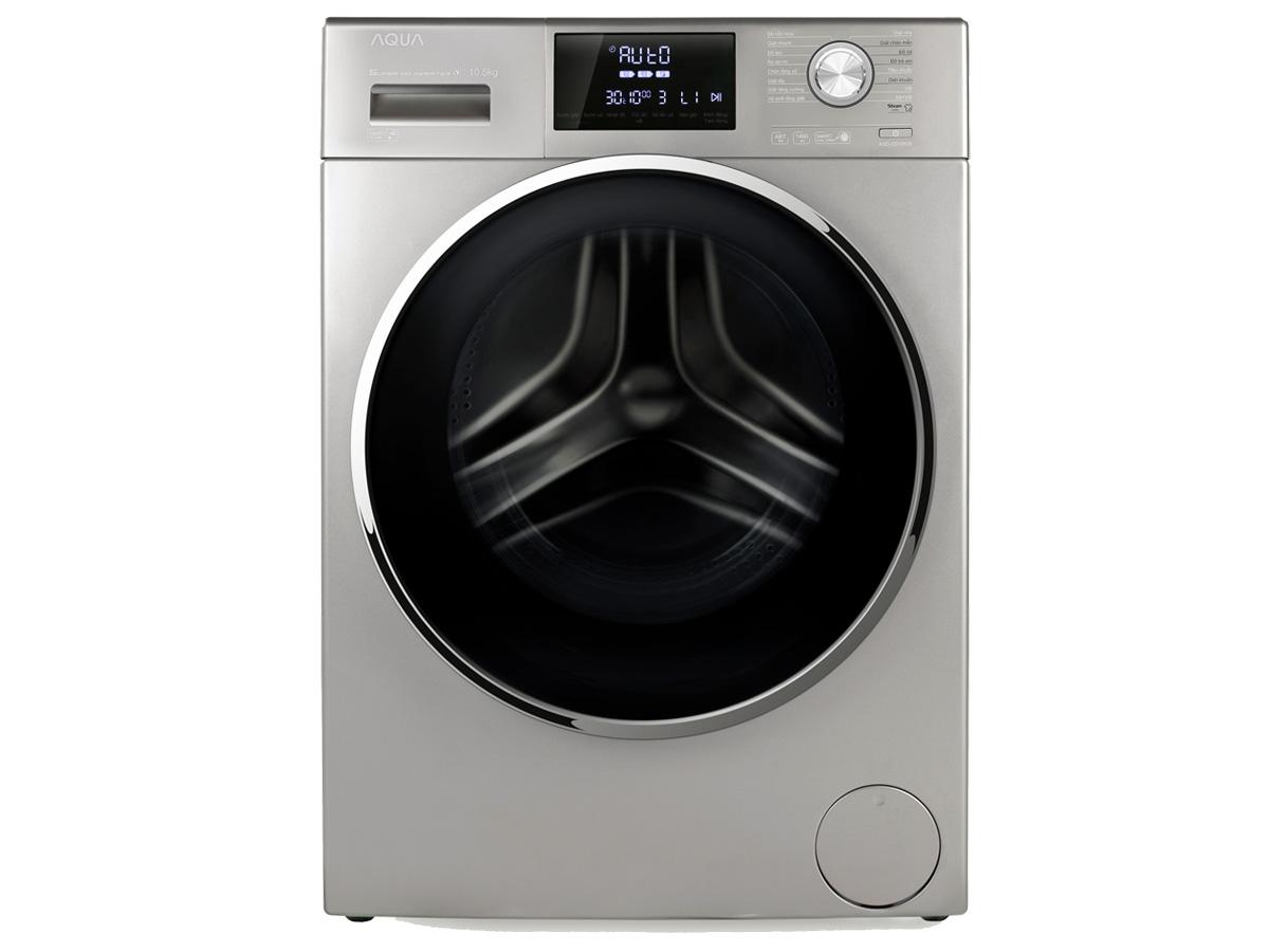 Máy giặt lồng ngang Aqua 10.5kg AQD-DD1050E.S màu bạc