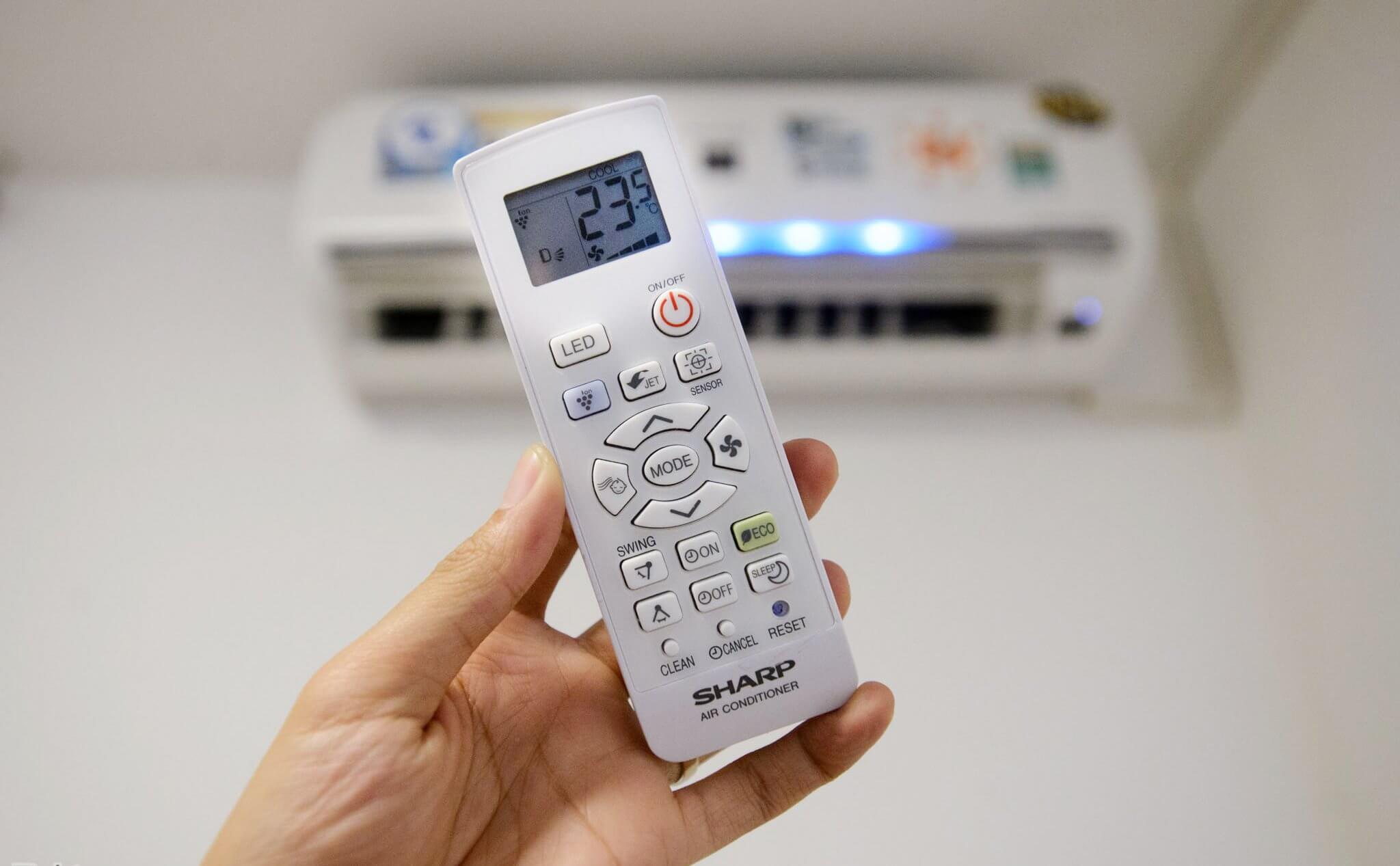 cách chuyển đổi từ độ C sang độ F ở điều khiển điều hòa, máy lạnh