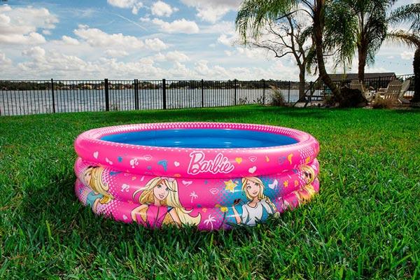 Bể bơi phao 3 tầng Barbie vững chắc, phù hợp với các bé gái