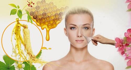 Sâm ngâm mật ong có tác dụng làm đẹp cho các chị em phụ nữ