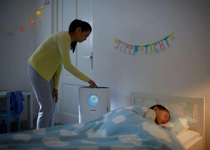Nên chọn những loại máy lọc không khí phòng ngủ có nhiều chế độ, độ ồn thấp để không làm ảnh hưởng giấc ngủ