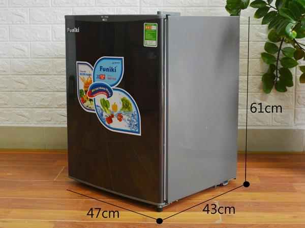 Tủ lạnh mini Funiki với kích thước nhỏ gọn, tiện dụng