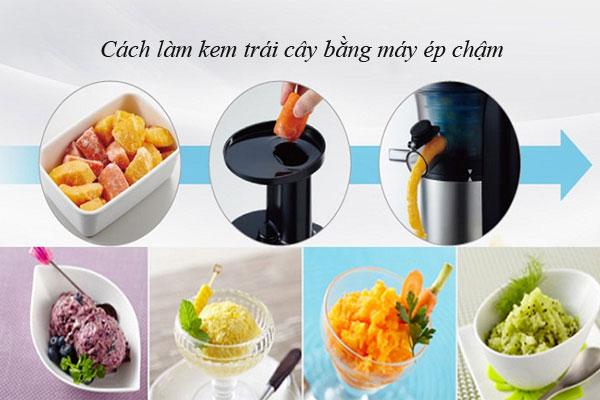 Cách làm kem bằng máy ép chậm