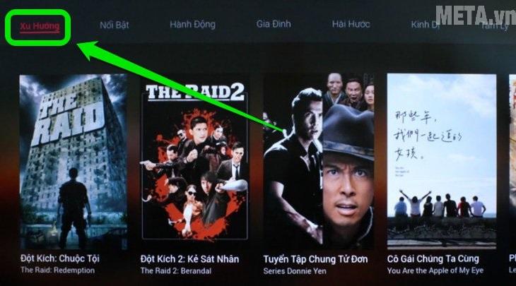 cách sử dụng ứng dụng FPT play để xem phim, truyền hình trên tivi Sony
