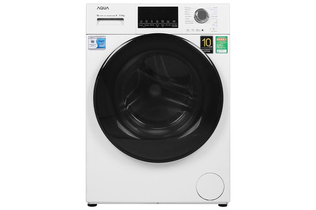 Máy giặt lồng ngang Aqua Inverter 9kg AQD-D900F.W (new 2020)